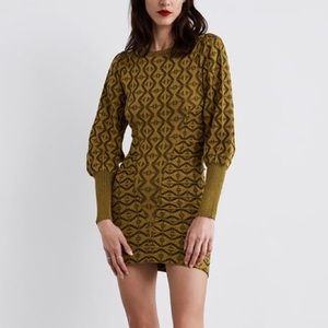Zara draped knit dress
